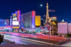 Paris at Vegas (Bhargav Kesavan) Tags: nightphotography streetphotography lighttriails nikon lighttrials night photography lasvegas lasvegasblvd vegas nevada travelnevada travel