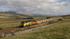 70 812 north of Selside with freight 6C89. (Marra Man) Tags: selside class70 class708 70812 6c89 colasrailfreight