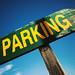 Closeup of Parking Arrow