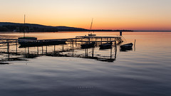 Early (zedspics) Tags: balaton magyarország hungary hongarije keszthely ungarn plattensee sunrise pier sailing ship boat reflection zedspics 1909