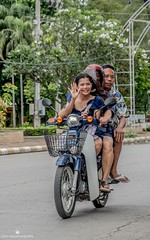 Safety first? (www.ownwayphotography.com) Tags: people city thailand scooter travel