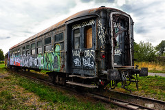 Graffiti express. (wimjee) Tags: nikond7200 nikon d7200 afsdx1680mmf284eedvr decayed urban abandoned decay vervallen verlaten urbex train trein graffiti niksoftware colorefexpro4 fbpage pint 500px