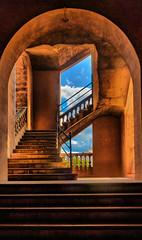 Plaza de Toros de Palma de Mallorca (Vest der ute) Tags: g7xm2 g7xll spain building sky clouds stairs fav25 fav200
