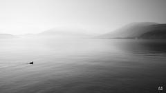 Pour moi tout seul (flo73400) Tags: lacdannecy lake paysage landscape nb bw highkey