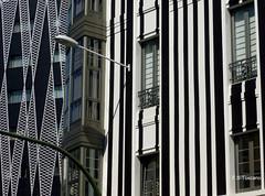 Contrastes Arquitectónicos. Architectonic contrast. A Coruña. (Esetoscano) Tags: edificios buildings arquitectura architecture ventanas windows contraste contrast geometría geometry zonacuatrocaminos acoruña galiza galicia españa spain