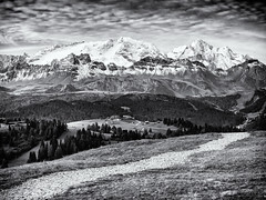 Way to the Mountains... (Ody on the mount) Tags: alpen anlässe berge blackwhite dolomiten em5ii fototour gipfel himmel mzuiko40150 marmolada omd olympus panorama südtirol urlaub wege wolken alps art bw blackandwhite clouds dolomites miraclesofcreation monochrome mountains peaks sw schwarzweis sky ways