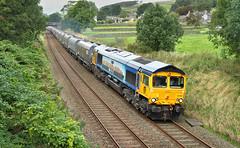 The MSC One At Back Lane. (Neil Harvey 156) Tags: railway 66709 sorrento backlane longpreston settletocarlislerailway stonetrain arcowstone 6m35 class66 msclivery gbrf