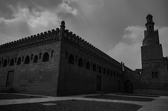 Highness (Ghada Elchazly) Tags: egypt cairo old architecture lines mosques mosque monochrome islam islamic doors bricks