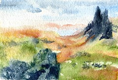 Tor-Daniel Smith Watercolor on St Armand Dominion (Life Imitates Doodles) Tags: wetpaintart artreview watercolor