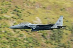 F15 (Thomas Winstone) Tags: wales unitedkingdom plane canon aircraft military jet usaf f15 lowfly lfa7 canonuk lowflyarea7 canon1dxmark2 300mm28mk2 thomaswinstonephotography