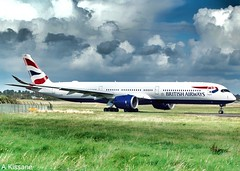 BRITISH AIRWAYS A350 G-XWBA (Adrian.Kissane) Tags: airliner airline jet plane airbus aircraft aeroplane airport grass sky ireland aviation taxing outdoors 326 3182019 gxwba a350 shannonairport shannon britishaw
