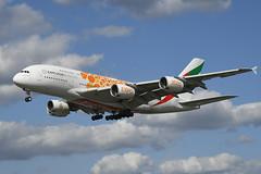 A6-EOB Airbus A380-861 EGLL 20-08-19 (MarkP51) Tags: a6eob airbus a380861 a380 emiratesairlines ek uae expo2020 specialcolours london heathrow airport lhr egll england airliner aircraft airplane plane image markp51 nikon d500 nikon24120f4vr sunshine sunny