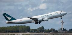 B747 | B-LJN | AMS | 20190913 (Wally.H) Tags: boeing 747 boeing747 b747 bljn cathaypacificairways cargo ams eham amsterdam schiphol airport