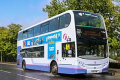 33903 SN11FOM First Glasgow (busmanscotland) Tags: 33903 sn11fom first glasgow sn11 fom ad adl alexander dennis trident enviro 400 enviro400