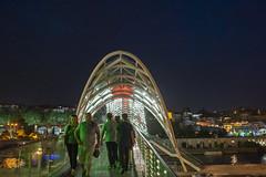 DSC00903-2 Tiflis Friedensbrücke (herrenhaus) Tags: tiflis georgien friedensbrücke night