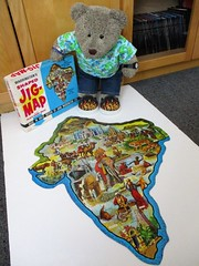 India, where the curry comes frum... (pefkosmad) Tags: jigsaw puzzle secondhand used complete vintage old hobby leisure pastime tedricstudmuffin teddy ted bear waddingtons india
