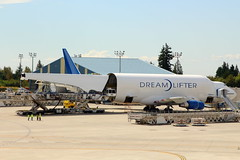 Delivery by Dreamlifter (N718BA) (Fraser Murdoch) Tags: boe 5y gti giant atlas air boeing dreamlifter dreamliner b747 blcf 747 b744 b747400 747400 lcf b747400lcf cargo freighter canon eos 650d fraser murdoch photography everett paine field airport factory take off nagoya japan components n747bc aircraft aviation plane kpae pae n718ba