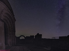 La Ermita de San Frutos con la Via Lactea......,The Hermitage of San Frutos with the Milky Way........... (Joerg Kaftan) Tags: panoramic vertical milkyway stars clouds night ruins hermitage sanfrutos spain sickles rio duraton canon eos7dmarkii panorámica vialactea estrellas nubes nocturna ruinas ermita españa hoces