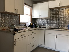 yeah, mucho nicer and sink is in... (DREADNOUGHT2003) Tags: renovation rebuild painting cabinets