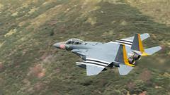 494th Heritage Jet (Thomas Winstone) Tags: wales canon unitedkingdom canonuk 300mm28mk2 plane aircraft military jet usaf f15 lowfly lfa7 lowflyarea7 canon1dxmark2 thomaswinstonephotography