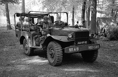 Santa Fe event - 2019 (Ronald_H) Tags: santa fe event jch black white film 400 streetpan 2019 wwii military vehicle am4982 dodge wc