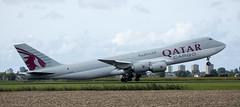 B747 | A7-BGB | AMS | 20190913 (Wally.H) Tags: boeing 747 boeing747 b747 a7bgb qatarairways cargo ams eham amsterdam schiphol airport