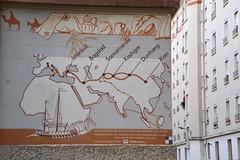 Silk road : A mural made in the 1960s (Jeanne Menjoulet) Tags: mural silkroad routedelasoie lyon france fresque murale fresco croixrousse istambul bagdad samarcande kashgar dunhang xian