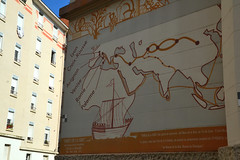 Silk road : A mural made in the 1960s (Jeanne Menjoulet) Tags: mural silkroad routedelasoie lyon france fresque murale fresco croixrousse