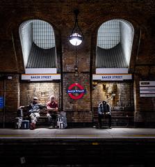 Baker Street (RickybanPhotography) Tags: london baker street travel underground transport communters people bricks uk england fuji gfx 45mm