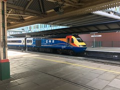 43076 about to leave Nottingham with a London St Pancras International bound service (Dradny) Tags: station locomotive trains themidlands travel nottingham eastmidlandsrailway highspeedtrain hst class43