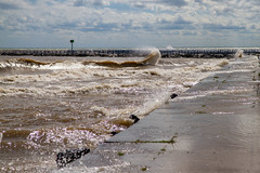 Lake Michigan Wave (Lester Public Library) Tags: tworiverswisconsin tworivers wisconsin lakemichigan lake water sky clouds harbor tworiversharbor lesterpubliclibrarytworiverswisconsin wisconsinlibraries readdiscoverconnectenrich
