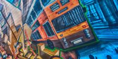 Flixton Bus (LeBlanc_Nigel) Tags: orange bus manchester graffiti street flixton town 256 stretford oldtrafford hulme art artistic transport