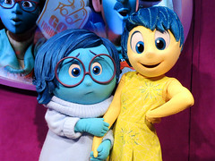 Sadness and Joy (meeko_) Tags: sadness joy emotion insideout pixar characters disneycharacters pixarcharacters epcotcharacterspot innoventions futureworld epcot themepark walt disney world waltdisneyworld florida