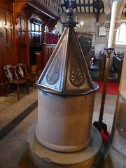 Church - St Andrew, Slaidburn 190822 [font] (maljoe) Tags: church churches standrews standrewschurchslaidburn slaidburn font
