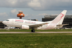 TS-IOQ (PlanePixNase) Tags: aircraft airport planespotting haj eddv hannover langenhagen tunisair boeing 737 b736 737600