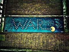Make Pac-man, not War (Steve Nimmons | Author) Tags: war peace antiwar pacman videogame arcadegame streetart croydon london southlondon publicart urbanart gamer