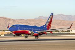 Southwest 737-700 (dmeg180) Tags: lasvegas nevada runway mccarran southwest airplane airliner aircraft jet boeing 737 klas las