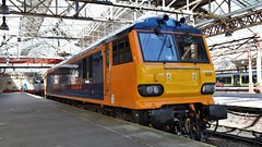 Pride of Crewe (TimboM) Tags: class92 92020 milton gbrf gbrailfreight 0z92 lightengine reinstatement crewe crewestation wcml dyson brushtraction brush