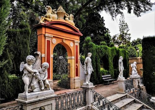 Jardín de Monforte de Valencia (antiguo Hort de Romero), obra de Sebastián Monleón Estellés