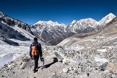 View of Anapurna, Larkya La pass (Petr Vodak) Tags: larkyala nepál trekokolomanaslu himalaya himalayas himalaj himalaje himaláje himálaje pass sedlo mountain hora mountains hory anapurna larkyalapass