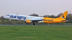 G-NSEY (AnDyMHoLdEn) Tags: aurigny embraer egcc airport manchester manchesterairport 05r