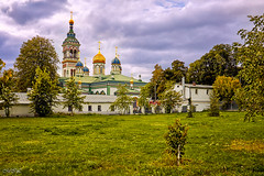 _MG_0522-2 (Mikhail Lukyanov) Tags: russia moscow autumn trees sky clouds church temple crosses domes christianity orthodoxy