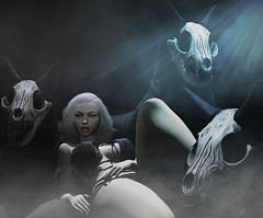 Wolf Moon (Vanjah Rajal) Tags: secondlife sl wolf dark moonlight vampire darkness