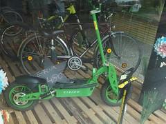 E-Flux (ohne Kompensator) (mkorsakov) Tags: dortmund nordstadt hafen schaufenster shopwindow laden store 2wheelgarage ebike eflux grün green