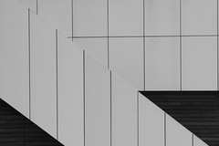 Shapes (Leon Sammartino) Tags: minimal minimalist docklands melbourne modern architecture lines diagonal stairs fujifilm xt3 xmount 18135 zoom lens monochrome mono black white art