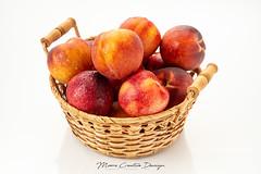 Peaches and Nectarines Wet (jesmo5) Tags: basket fresh fruit garden handpicked highkey isolated juicy nectarines onwhite peaches produce savory tasty whitebackground