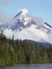 Mount Hood (Dave In Oregon) Tags: mounthood lostlake clouds water sky oregon summer