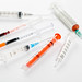 A set of different syringes for injection and oral administration of medicines