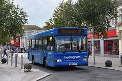Go Ahead Hedingham 285, SN03EBV. (EYBusman) Tags: go ahead hedingham district omnibus clacton sea essex town centre dennis dart slf mpd alexander plaxton pointer minibus solent blue line red rockets southampton star sn03ebv eybusman