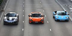Porsche 991 GT2RS / McLaren 720S / Lamborghini Murvcielago, Wan Chai, Hong Kong (Daryl Chapman Photography) Tags: satu gl10 dw138 porsche mclaren lamborghini 911 991 gt2rs 720s murcielago italian german british hongkong china sar wanchai pan panning panningshot panningphotography auto autos automobile automobiles automotivephotography canon 5d mkiv 70200l f28